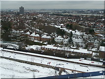 TQ1985 : Wembley: snow-covered suburbs by Chris Downer