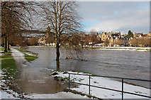 NT2540 : River Tweed during the thaw by Jim Barton