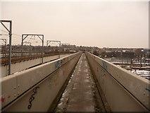 TQ2182 : Harlesden: a railway footbridge by Willesden Junction by Chris Downer