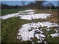 TQ4556 : Snow on the North Downs Way by David Anstiss