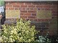 SJ4469 : Two foundation stones in the Primitive Methodist Chapel by John S Turner