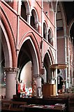 TQ2284 : St Andrew, High Road, Willesden, NW10 - North arcade by John Salmon
