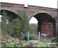 TG2205 : The Harford Rail Viaduct - graffiti in one of the arches by Evelyn Simak