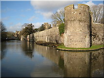 ST5545 : Moat and Bishop's Palace, Wells by Philip Halling