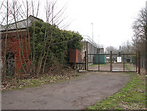 TG2407 : Gate into Trowse sewage works by Evelyn Simak