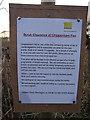 TL6469 : Scrub clearance sign at Chippenham Fen by Hugh Venables