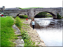 SE0361 : River Wharfe:  Burnsall Bridge by Dr Neil Clifton