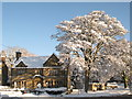 NY8355 : The Gift Shop in the snow (2) by Mike Quinn