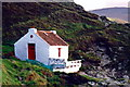 SC2177 : Niarbyl - Thatched fisherman's cottage at Niarbyl Bay by Joseph Mischyshyn