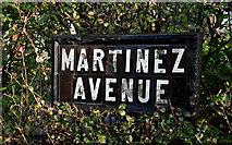J3773 : Martinez Avenue sign, Belfast (1) by Albert Bridge