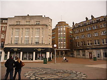 SZ0891 : Bournemouth: Richmond Hill emerges into The Square by Chris Downer