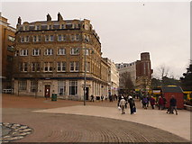 SZ0891 : Bournemouth: Old Christchurch Road meets The Square by Chris Downer