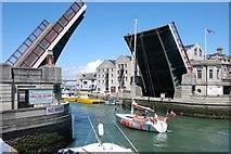 SY6778 : Weymouth: Town Bridge by Mr Eugene Birchall