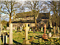 SD7605 : St Saviour's graveyard and Church, Ringley by David Dixon