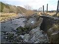 NY7446 : Erosion to riverside footpath on River Nent by Roger Morris