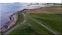 NU1341 : The Ouse from Lindisfarne Castle by IrenicRhonda