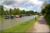 ST9961 : Canal moorings by Roger Gittins