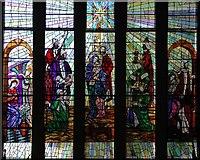 TQ1090 : St Edmund the King, Northwood Hills - Window by John Salmon