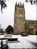 SJ3454 : The newly restored tower of All Saints' church, Gresford by John S Turner