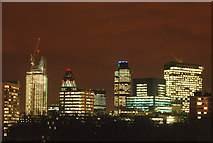 TQ3282 : Night and day: City of London skyline (2) by Andy F