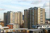 TQ3282 : Night and day: roofscape in London EC1 (1) by Andy F