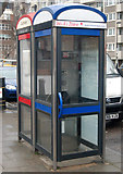 TQ3282 : Blue and red phoneboxes, Central Street, London EC1 by Andy F