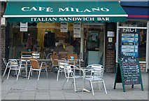 TQ3282 : Cafe in Kings square, London EC1 by Andy F