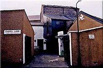 SC2484 : Peel - Chapel Lane - Cluster of four buildings by Joseph Mischyshyn