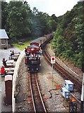 SH6441 : David Lloyd George enters Tan-Y-Bwlch station by David P Howard