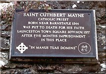 SX3384 : Imprisonment and execution of a Catholic martyr 1577 by D Gore