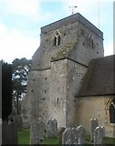 SU8441 : The church tower at  St Mary's, Frensham by Basher Eyre