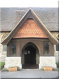 SU8441 : The church porch at St Mary's, Frensham by Basher Eyre