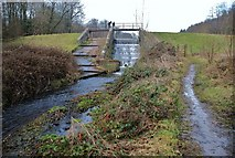ST2213 : Royston Water Weir by Mr Eugene Birchall
