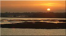 SZ3394 : Sunset Over the Salt-marsh, Lymington by Peter Trimming