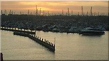SZ3394 : Lymington Marina by Peter Trimming