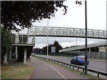 TQ1372 : Footbridge near Saxon Avenue by Anonymous