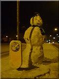 SD3727 : Snowman in Lytham by Roger W Haworth