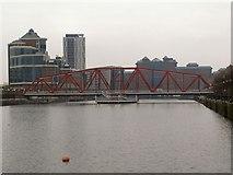 SJ8097 : Salford Quays, Detroit Bridge by David Dixon