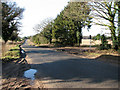 TL9183 : View west along Langmere Hill on Kilverstone Road by Evelyn Simak