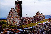 SC2484 : Peel Castle interior - Stone building and round tower by Joseph Mischyshyn