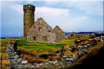SC2484 : Peel Castle interior - Round tower and stone building by Joseph Mischyshyn