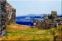SC2484 : Peel Castle interior - View to NE past 3 stone buildings by Joseph Mischyshyn