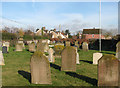 TL9585 : St Mary's church - view across the churchyard by Evelyn Simak