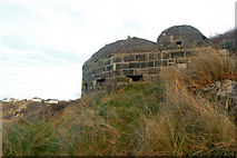 SW3526 : Lower of two 'pillbox' gun emplacements above Sennen Cove (1) by Andy F