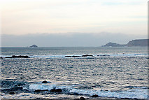 SW3526 : View over Cowloe rocks towards The Brisons island and Cape Cornwall by Andy F