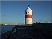 SC2667 : Breakwater Head lighthouse at Castletown harbour by Richard Hoare