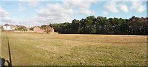 SZ0895 : Bournemouth : Grassy Field & Trees by Lewis Clarke