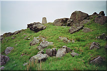 SD7559 : Trig point at Whelpstone Crag by Tom Howard