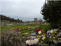 ST3970 : Graveyard flowers by Peter Barr