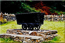 SC4384 : Laxey - Cart used to haul ore from Laxey Mine by Joseph Mischyshyn
